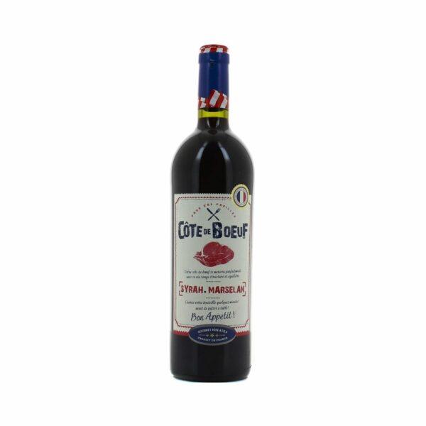 Côte de Boeuf - Syrah Marselan - 75cl Languedoc-Roussillon, Vins Rouges, IGP d'Oc, marselan, syrah, vin du languedoc, vin du sud, vin rouge côte de boeuf