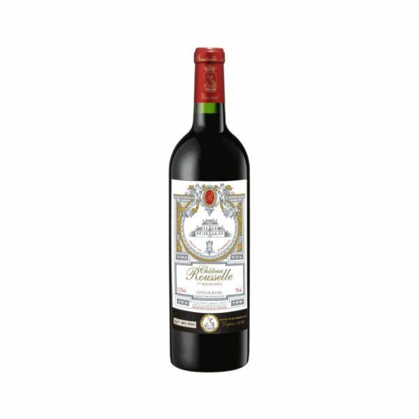 Château Rousselle - Côtes de Bourg - 12 Mois Barriques - 75cl Bordeaux, Vins Rouges