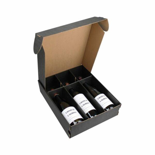 Coffret Vins Nu 3 Bouteilles - Emballage Cadeau sans bouteilles Emballages Cadeaux, LIVRAISONS & EXPEDITIONS