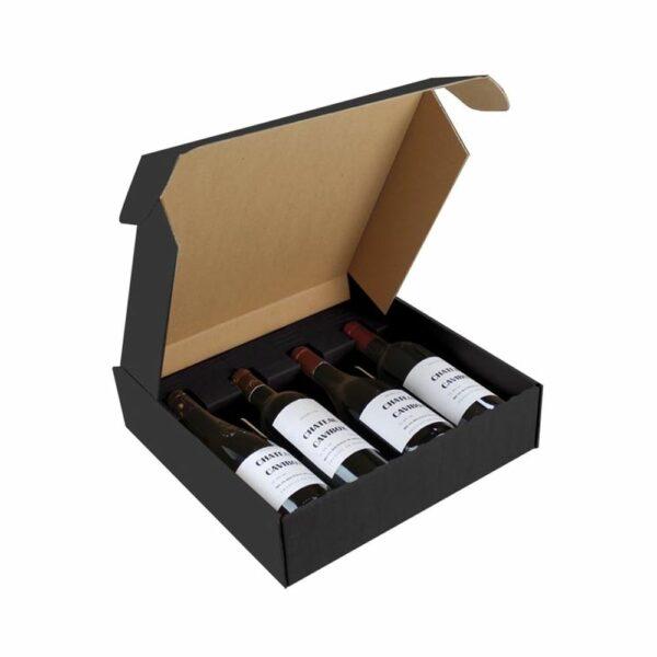 Coffret Vins Nu 4 Bouteilles - Emballage Cadeau sans bouteilles Emballages Cadeaux, LIVRAISONS & EXPEDITIONS