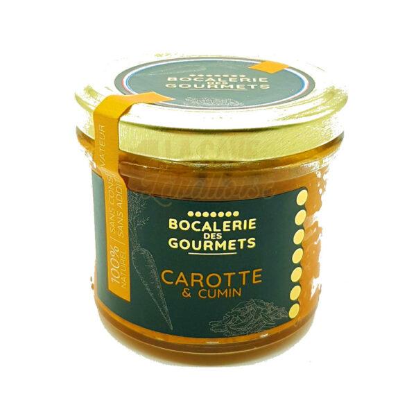 Carotte & Cumin - La Bocalerie des Gourmets - 110gr Produits de la Mayenne, Produits Salés, Bocalerie des Gourmets, colis gourmand, epicerie fine, panier gourmand, panier mayennais, producteur local en mayenne, producteurs locaux en mayenne, produit de la mayenne, produit mayennais, produits du terroir en mayenne