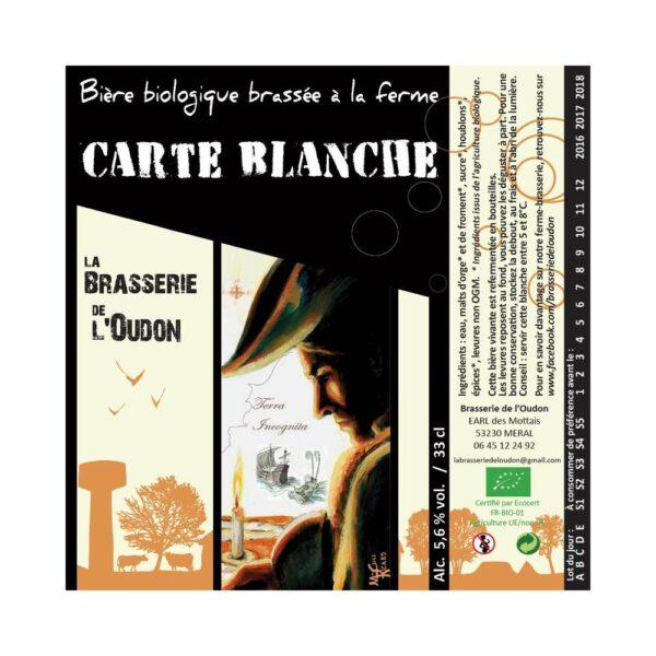 Carte Blanche 33cl & 75cl - Bière Blanche 6,2% Produits de la Mayenne, Bières & Cidres de la Mayenne, Brasserie de L'Oudon, biere artisanale de la mayenne, brasserie artisanale de la mayenne, colis gourmand, epicerie fine, panier gourmand, panier mayennais, producteur local en mayenne, producteurs locaux en mayenne, produit de la mayenne, produit mayennais, produits du terroir en mayenne