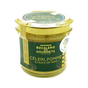 Céleri, Pomme, Noix - La Bocalerie des Gourmets - 110gr Produits de la Mayenne, Produits Salés, Bocalerie des Gourmets, aperitif, apéritif à emporter, apéro à Laval, cocktail, coffret mayennais, colis gourmand, epicerie fine, panier gourmand, panier mayennais, producteur local en mayenne, producteurs locaux en mayenne, produit de la mayenne, produit du terroir laval, produit mayennais, produits du terroir en mayenne, spécialités mayenne, tapas à Laval, tapas en Mayenne, tartinables
