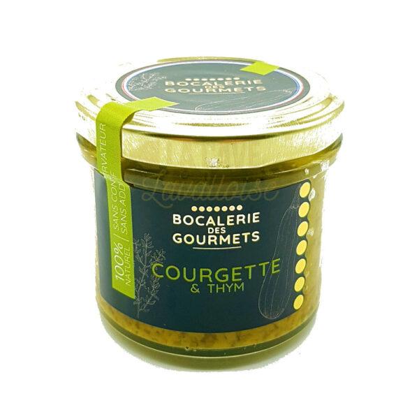 Courgette & Thym - La Bocalerie des Gourmets - 110gr Produits de la Mayenne, Produits Salés, Bocalerie des Gourmets, aperitif, apéritif à emporter, apéro à Laval, cocktail, coffret mayennais, colis gourmand, epicerie fine, panier gourmand, panier mayennais, producteur local en mayenne, producteurs locaux en mayenne, produit de la mayenne, produit du terroir laval, produit mayennais, produits du terroir en mayenne, spécialités mayenne, tapas à Laval, tapas en Mayenne, tartinables