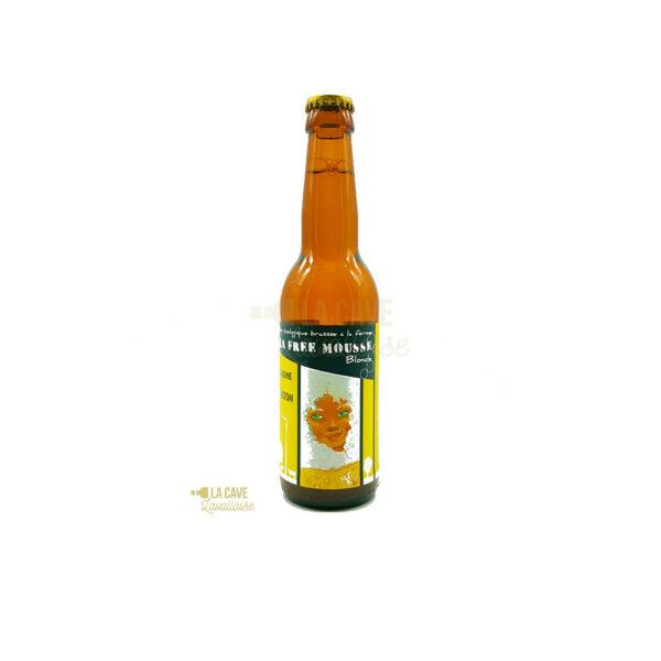 La Free Mousse 33cl & 75cl - Bière Blonde 6,2% Produits de la Mayenne, Bières & Cidres de la Mayenne, Brasserie de L'Oudon, biere artisanale de la mayenne, brasserie artisanale de la mayenne, colis gourmand, epicerie fine, panier gourmand, panier mayennais, producteur local en mayenne, producteurs locaux en mayenne, produit de la mayenne, produit mayennais, produits du terroir en mayenne