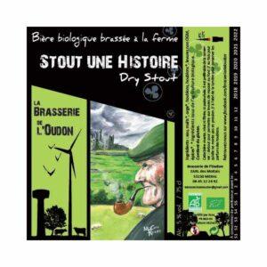 Stout une Histoire 33cl - Bière Stout Brune 5% Produits de la Mayenne, Bières & Cidres de la Mayenne, Brasserie de L'Oudon, biere artisanale de la mayenne, brasserie artisanale de la mayenne, colis gourmand, epicerie fine, panier gourmand, panier mayennais, producteur local en mayenne, producteurs locaux en mayenne, produit de la mayenne, produit mayennais, produits du terroir en mayenne