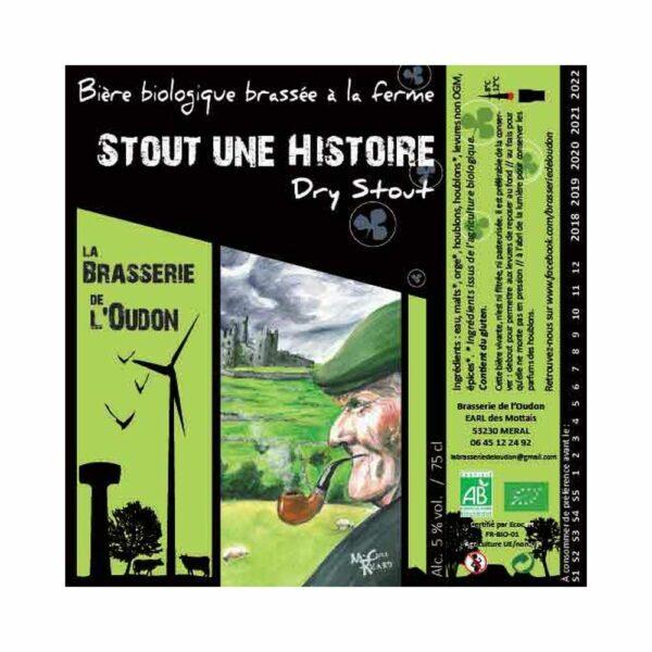 Stout une Histoire 33cl - Bière Stout Brune 5% Produits de la Mayenne, Bières & Cidres de la Mayenne, Brasserie de L'Oudon
