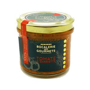 Tomate & Sarriette - La Bocalerie des Gourmets - 110gr Produits de la Mayenne, Produits Salés, Bocalerie des Gourmets, colis gourmand, epicerie fine, panier gourmand, panier mayennais, producteur local en mayenne, producteurs locaux en mayenne, produit de la mayenne, produit mayennais, produits du terroir en mayenne