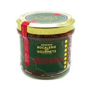 Betterave & Moutarde - La Bocalerie des Gourmets - 110gr Produits de la Mayenne, Produits Salés, Bocalerie des Gourmets, aperitif, apéritif à emporter, apéro à Laval, cocktail, coffret mayennais, colis gourmand, epicerie fine, panier gourmand, panier mayennais, producteur local en mayenne, producteurs locaux en mayenne, produit de la mayenne, produit du terroir laval, produit mayennais, produits du terroir en mayenne, spécialités mayenne, tapas à Laval, tapas en Mayenne, tartinables