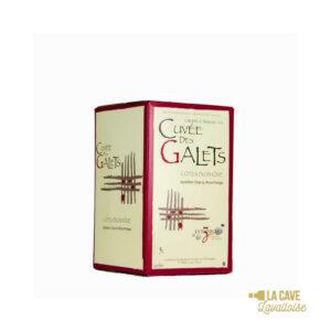 BIB Cuvée des Galets Rouge 5L Rhône, Vins Rouges, Vins Biologiques & Naturels, Bag-in-Box, Vignerons d'Estézargues, bag, bag in box, bib, box, cubi