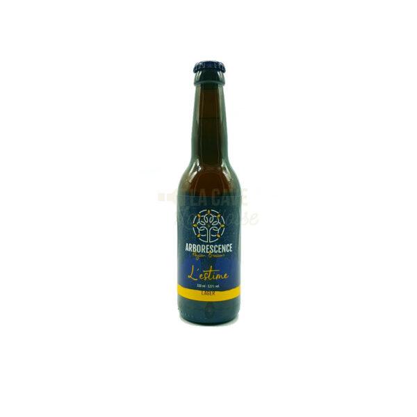 L'Estime 33cl & 75cl - Bière Blonde Lager 5,5% Produits de la Mayenne, Bières & Cidres de la Mayenne, Brasserie de L'Arborescence