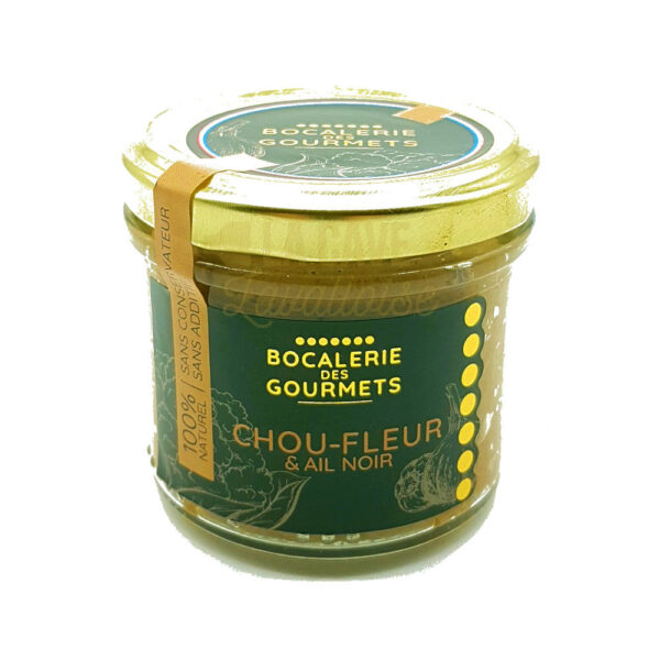 Choux Fleur, Ail Noir - La Bocalerie des Gourmets - 110gr Produits de la Mayenne, Produits Salés, Bocalerie des Gourmets