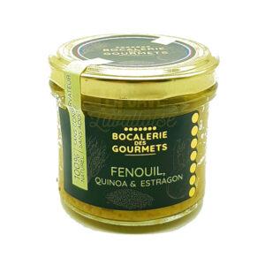 Fenouil, Quinoa, Estragon - La Bocalerie des Gourmets - 110gr Produits de la Mayenne, Produits Salés, Bocalerie des Gourmets, aperitif, apéritif à emporter, apéro à Laval, cocktail, coffret mayennais, colis gourmand, epicerie fine, panier gourmand, panier mayennais, producteur local en mayenne, producteurs locaux en mayenne, produit de la mayenne, produit du terroir laval, produit mayennais, produits du terroir en mayenne, spécialités mayenne, tapas à Laval, tapas en Mayenne, tartinables