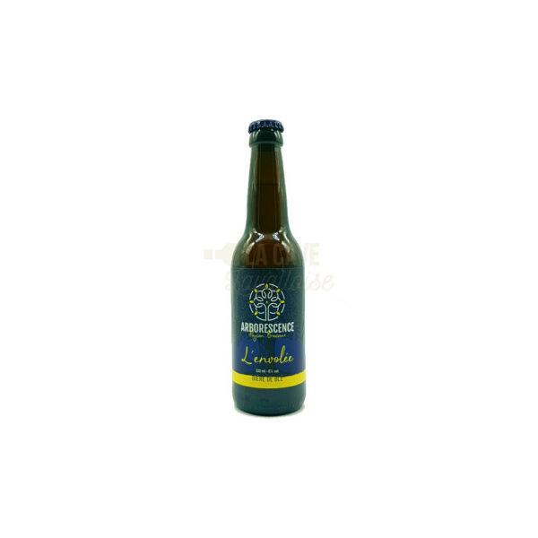 L'Envolée 33cl & 75cl - Bière de Blé Blonde 6% Produits de la Mayenne, Bières & Cidres de la Mayenne, Brasserie de L'Arborescence
