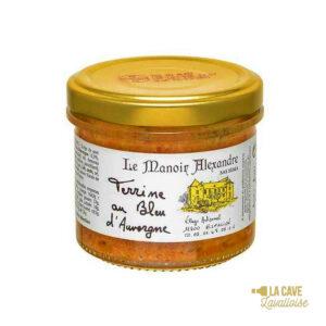 Terrine au Bleu d'Auvergne - 90gr Manoir Alexandre, Produits Salés, aperitif, canard, colis gourmand, foie gras, gibier, gourmet, manoir alexandre, pâté, porc, producteur, produit de qualité, rillettes, tartinable, terrine, verrines