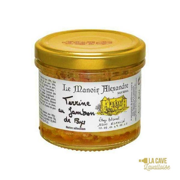 Terrine au jambon de pays 90gr Produits Salés, Manoir Alexandre