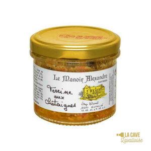 Terrine aux Châtaignes - 90gr Manoir Alexandre, Produits Salés, aperitif, canard, colis gourmand, foie gras, gibier, gourmet, manoir alexandre, pâté, porc, producteur, produit de qualité, rillettes, tartinable, terrine, verrines