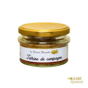 Terrine de Campagne - 100gr Manoir Alexandre, Produits Salés, aperitif, canard, colis gourmand, foie gras, gibier, gourmet, manoir alexandre, pâté, porc, producteur, produit de qualité, rillettes, tartinable, terrine, verrines
