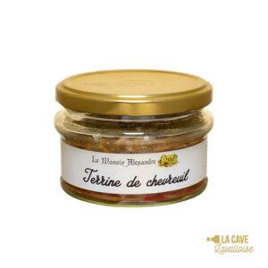 Terrine de Chevreuil - 100gr Manoir Alexandre, Produits Salés, aperitif, canard, colis gourmand, foie gras, gibier, gourmet, manoir alexandre, pâté, porc, producteur, produit de qualité, rillettes, tartinable, terrine, verrines