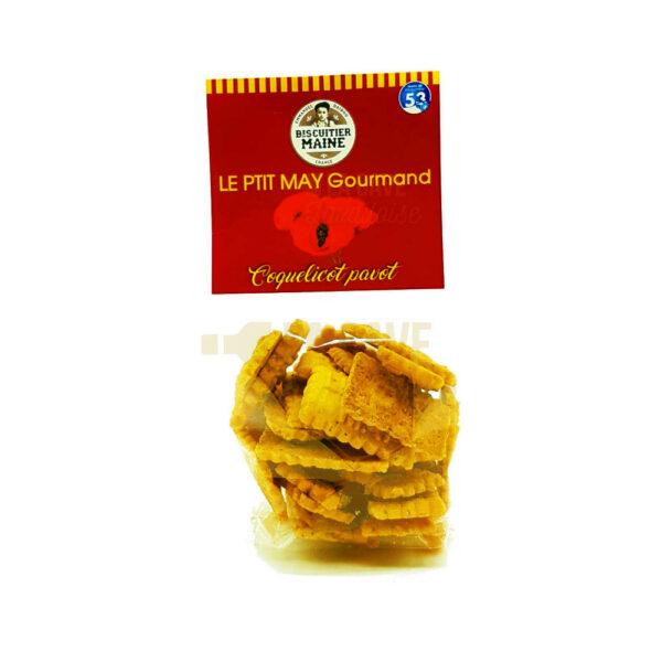 Biscuits Sucrés - Coquelicot Pavot - 100gr Produits de la Mayenne, Produits Sucrés, Biscuitier du Maine, colis gourmand, epicerie fine, panier gourmand, panier mayennais, producteur local en mayenne, producteurs locaux en mayenne, produit de la mayenne, produit mayennais, produits du terroir en mayenne