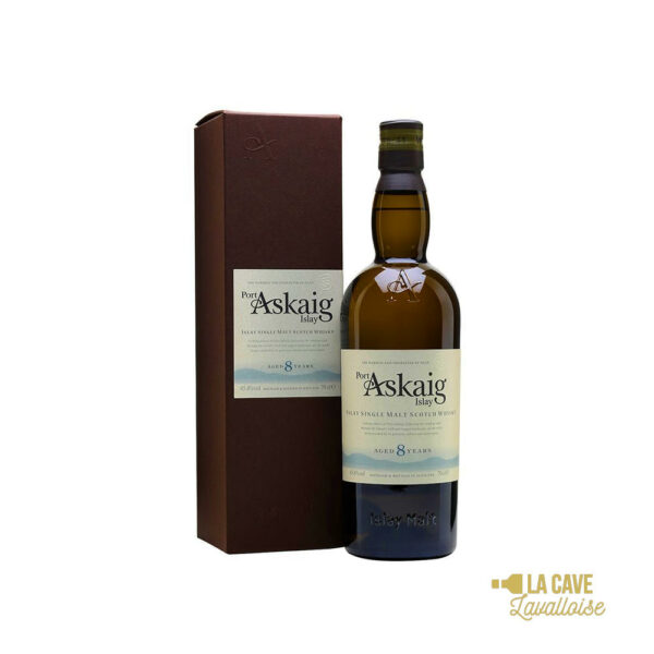 Port Askaig 8 Ans - Islay Single Malt 45.8° - 70cl Idées Cadeaux Noël 2021, Islay, bourbon, finition futs de sherry, whiskey, whiskies à laval, whisky, whisky à laval, whisky en mayenne, whiskys
