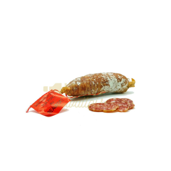 Saucisson au Beaufort - 150gr Produits Salés, Saucissons Secs, bons saucissons, fabrication artisanale, saucisses sèches, saucissons, saucissons au fromage, saucissons aux herbes, saucissons moelleux, saucissons secs