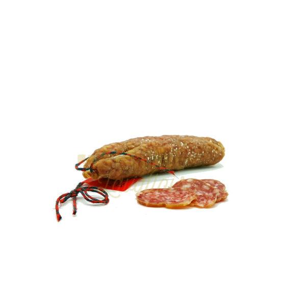 Saucisson au Fromage de Chèvre - 150gr Produits Salés, Saucissons Secs, bons saucissons, fabrication artisanale, saucisses sèches, saucissons, saucissons au fromage, saucissons aux herbes, saucissons moelleux, saucissons secs
