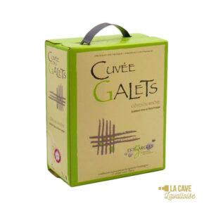 BIB Cuvée des Galets Blanc 3L Rhône, Vins Blancs, Vins Biologiques & Naturels, Bag-in-Box, Vignerons d'Estézargues, bag, bag in box, bib, box, cubi