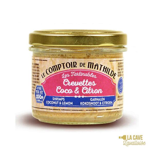 Crevettes Coco & Citron - Tartinable 100gr Produits Salés, Comptoir de Mathilde, aperitif, apéro, comptoir de mathilde, épices, exotisme, légumes, mer, oriental, provence, réception, tapas, tartinables, toasts, verrines