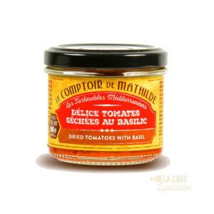 Délice de Tomates séchées au Basilic - Tartinable 90gr Produits Salés, Comptoir de Mathilde