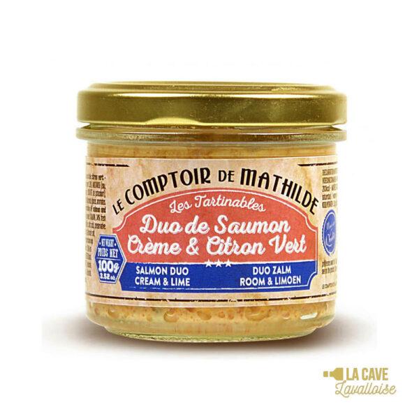Duo de Saumon Crème & Citron Vert - Tartinable 100gr Produits Salés, Comptoir de Mathilde