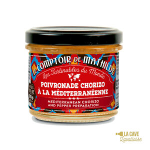 Poivronade Chorizo à la Méditerranéenne - Tartinable 90gr Produits Salés, Comptoir de Mathilde