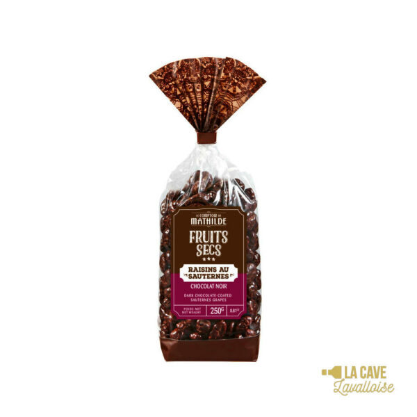 Raisins au Sauternes enrobés de Chocolat Noir 250gr Produits Sucrés, Comptoir de Mathilde