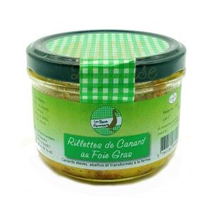 Rillettes de Canard au Foie Gras - Les Becs Fermiers - 160gr Les Becs Fermiers, Produits Salés