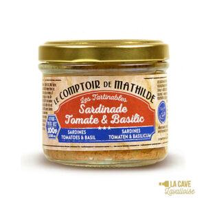 Sardinade Tomate & Basilic - Tartinable 100gr Produits Salés, Comptoir de Mathilde, aperitif, apéro, comptoir de mathilde, épices, exotisme, légumes, mer, oriental, provence, réception, tapas, tartinables, toasts, verrines