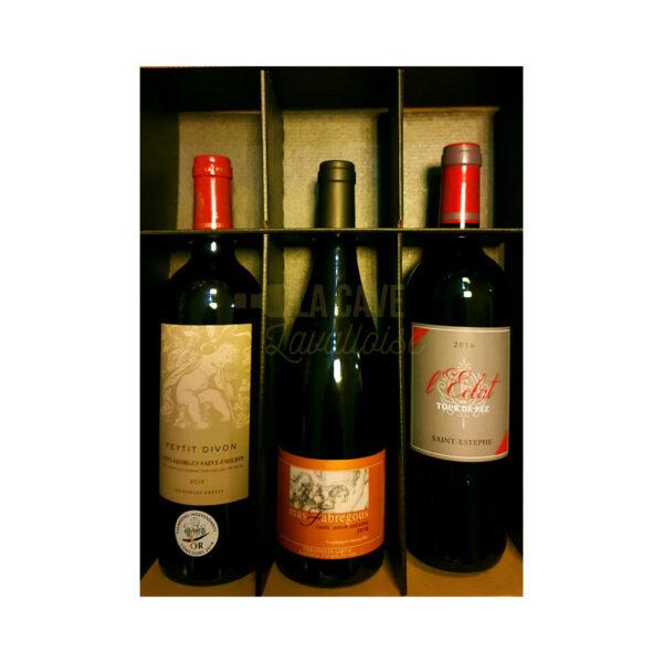 Coffret Vins Prestige - 3 Bouteilles - 3x75cl Idées Cadeaux Fête des Pères, Coffrets Vins, coffret vin, coffret vin abonnement, coffret vin blanc, coffret vin bordeaux, coffret vin découverte, coffret vin grand cru, coffret vin pas cher, coffret vin personnalisé, coffret vin rosé, coffret vin rouge, coffret vins récoltants, idée cadeau