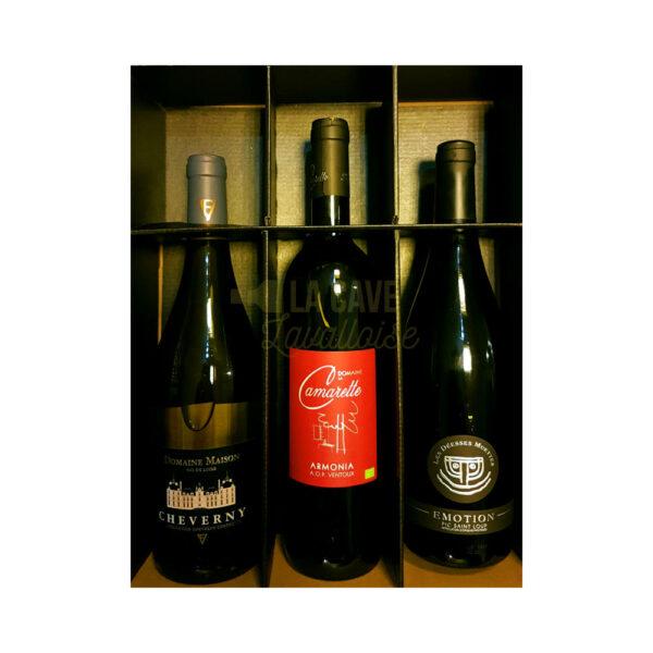 Coffret Vins - 3 Bouteilles - 3x75cl Idées Cadeaux Fête des Pères, Coffrets Vins, coffret vin, coffret vin abonnement, coffret vin blanc, coffret vin bordeaux, coffret vin découverte, coffret vin grand cru, coffret vin pas cher, coffret vin personnalisé, coffret vin rosé, coffret vin rouge, coffret vins récoltants, idée cadeau