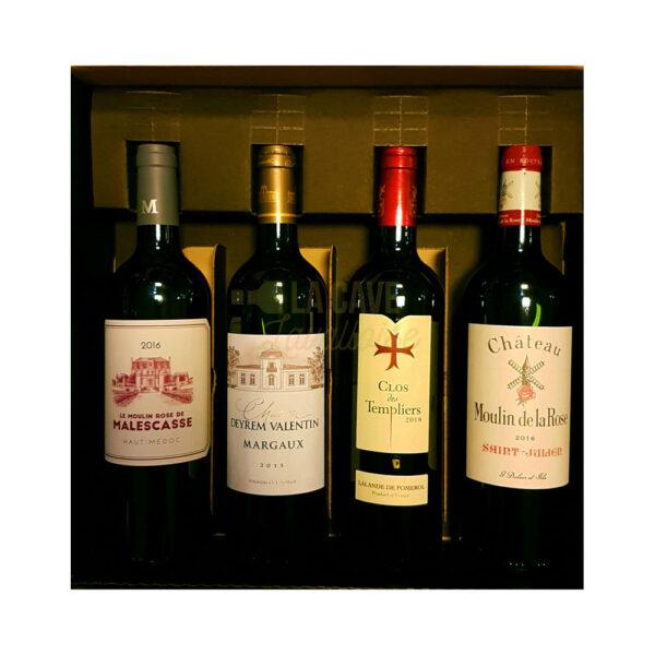 Coffret Vins Prestige - 4 Bouteilles - 4x75cl Idées Cadeaux Fête des Pères, Coffrets Vins, coffret vin, coffret vin abonnement, coffret vin blanc, coffret vin bordeaux, coffret vin découverte, coffret vin grand cru, coffret vin pas cher, coffret vin personnalisé, coffret vin rosé, coffret vin rouge, coffret vins récoltants, idée cadeau