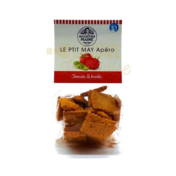 Biscuits Salés - Tomate & Basilic - 100gr Produits de la Mayenne, Produits Salés, Biscuitier du Maine, aperitif, apéritif à emporter, apéro à Laval, cocktail, coffret mayennais, colis gourmand, epicerie fine, panier gourmand, panier mayennais, producteur local en mayenne, producteurs locaux en mayenne, produit de la mayenne, produit du terroir laval, produit mayennais, produits du terroir en mayenne, spécialités mayenne, tapas à Laval, tapas en Mayenne, tartinables