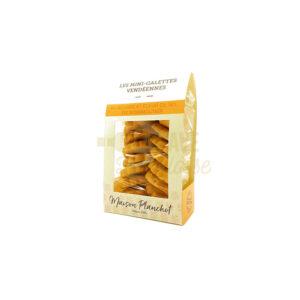 Mini-Galettes de Vendée - 160gr Maison Planchot, Produits Sucrés, biscuits, croquants, épicerie, fabrication artisanale, galettes au beurre, maison planchot, mendiants, meringues, noisettes, Pays de Loire, prefou, produits, produits locaux, vendée
